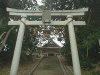 スクナヒコナが上陸したといわれる海岸の近くにある(七尾市黒崎の)宿那彦神像神社の写真